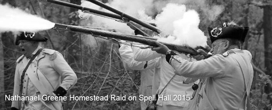 3rd annual raid on spell hall nathanael greene homestead reenactment