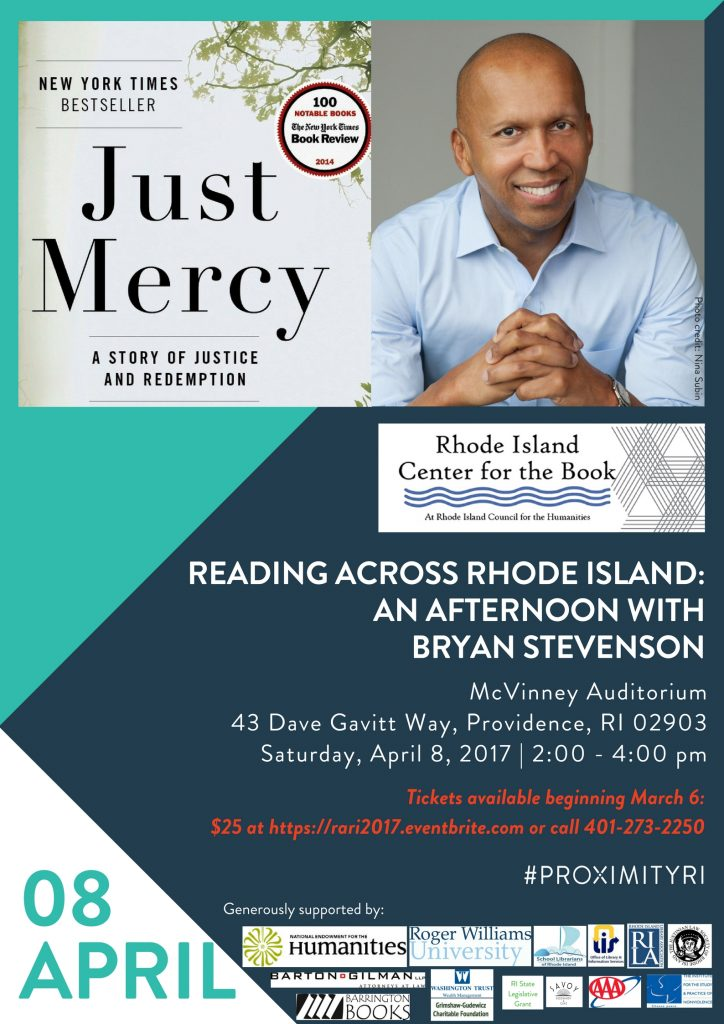 Tickets Now Available for An Afternoon with Bryan Stevenson