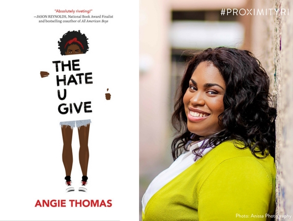 2018 Reading Across Rhode Island selection is The Hate U Give by Angie Thomas