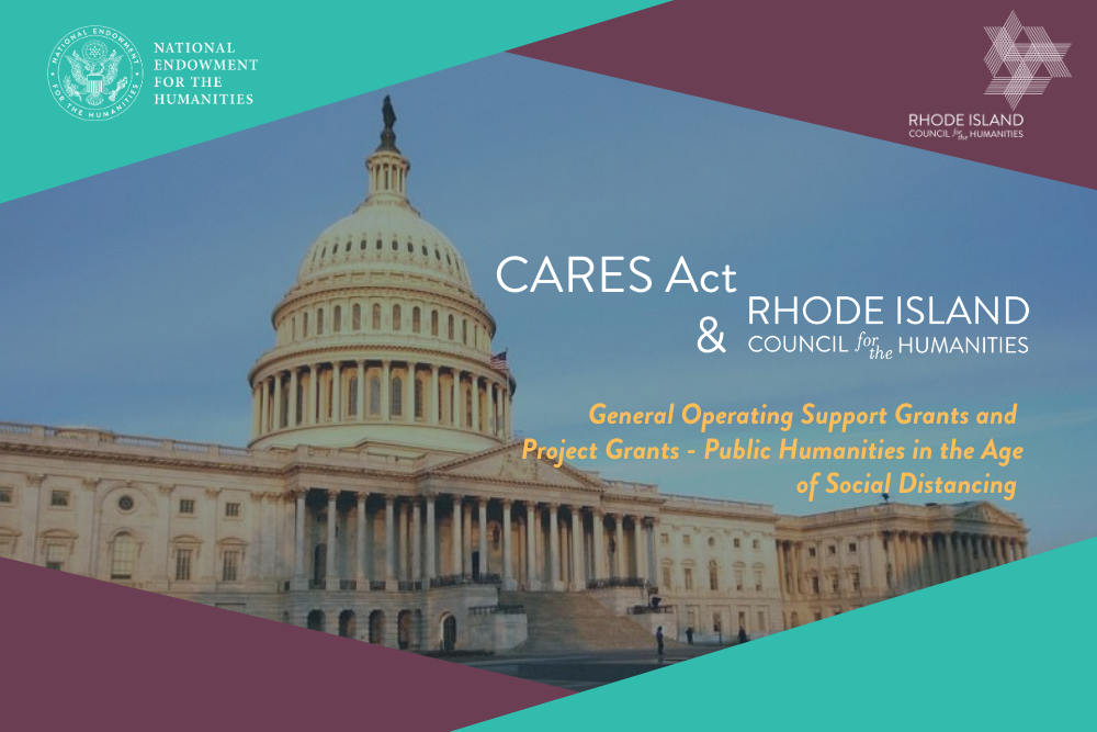 Aug 2020 updated Home pg slider CARES Act grant opportunities with RIHumanities